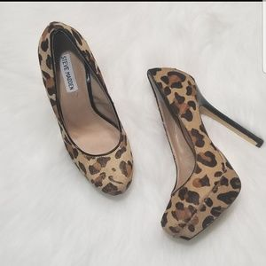 Steve Madden - leapord dyed pony hair - Size 8